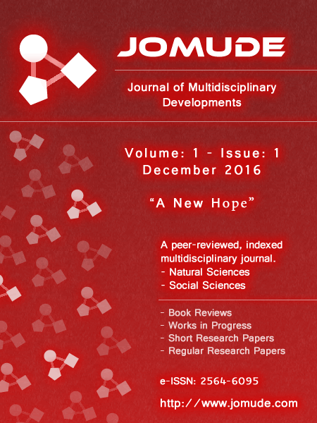 JOMUDE Cover: Volume: 1, Issue: 1, December 2016